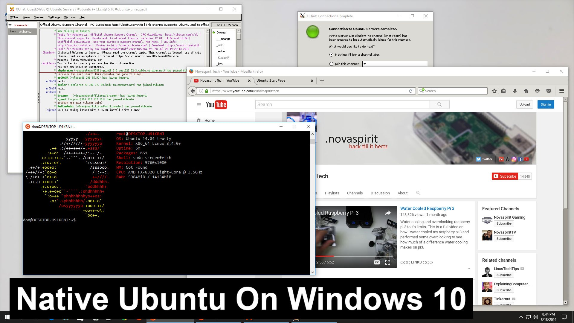 Native Ubuntu on Windows 10