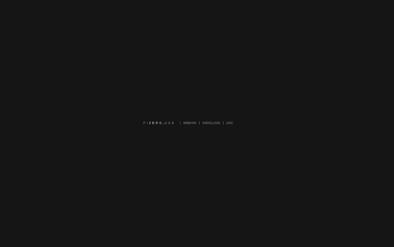 Raspberry Pi Zero USB Startpage