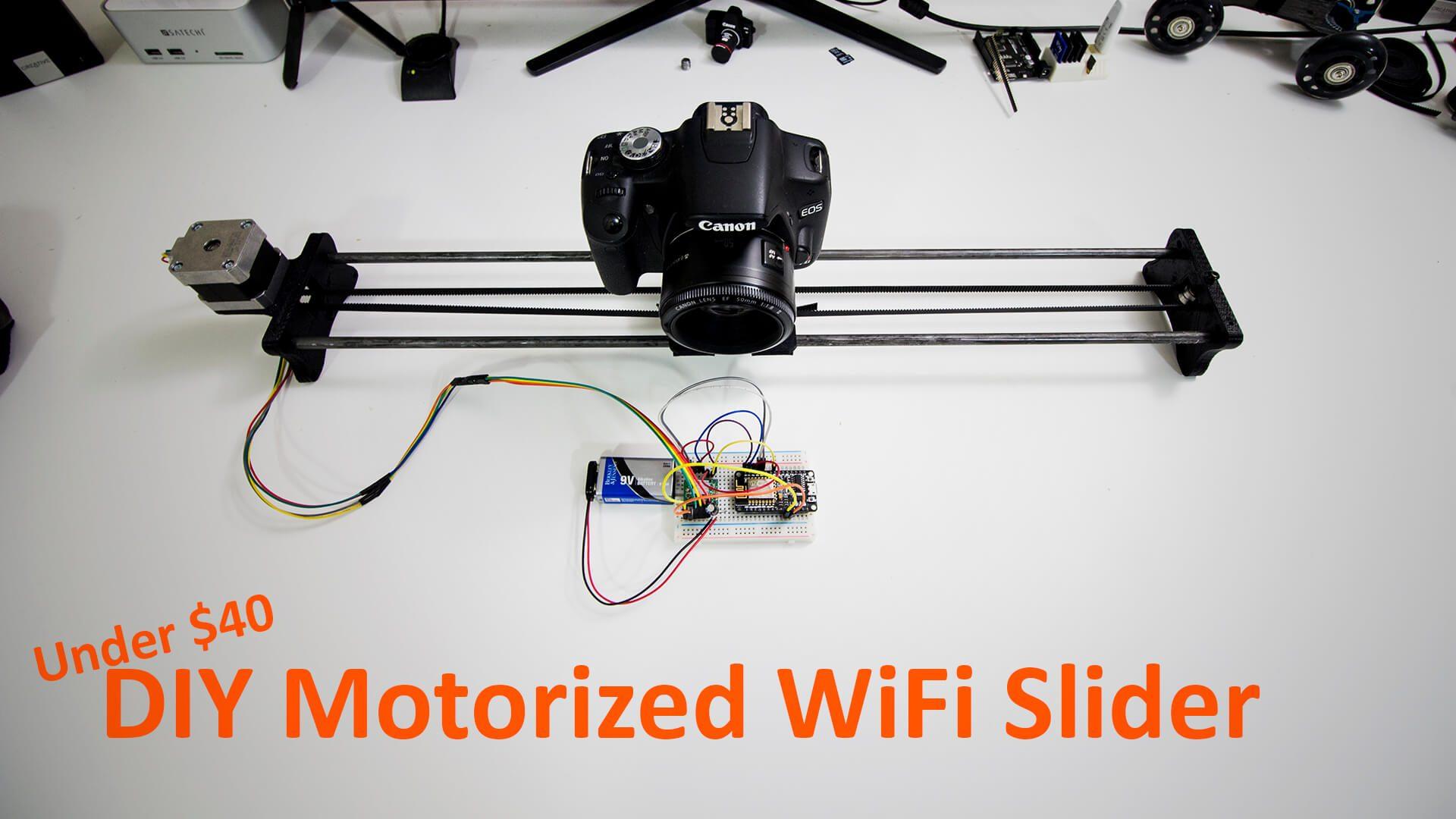 Diy Motorized Wifi Camera Slider Novaspirit